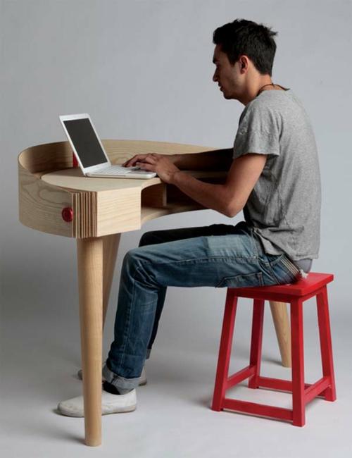 Ausgefallene Schreibtische Für Ihr Büro Arbeit Holz Kompakt