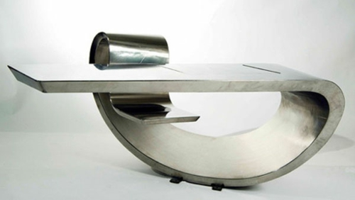 ausgefallene Shreibtische für Ihr Büro futuristisch stil design