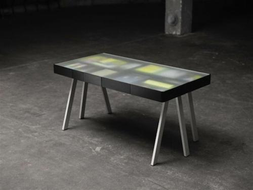 ausgefallene Schreibtische für Ihr Büro glas mattiert