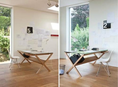 Büro design holz  42 ausgefallene Schreibtische für Ihr Büro