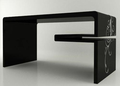 Schreibtische für Ihr Büro schwarz modern gemustert