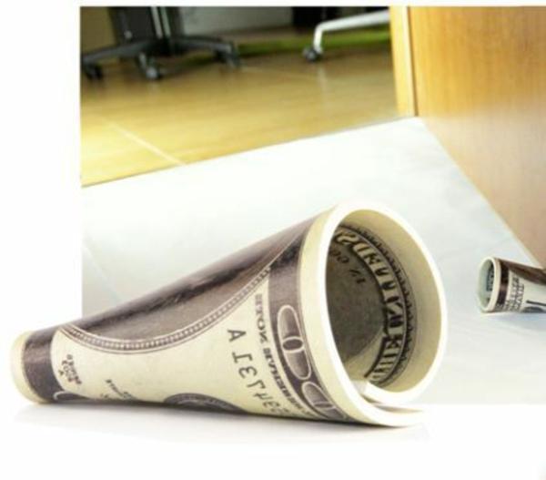 ausgefallene deko artikel türstopper dollar