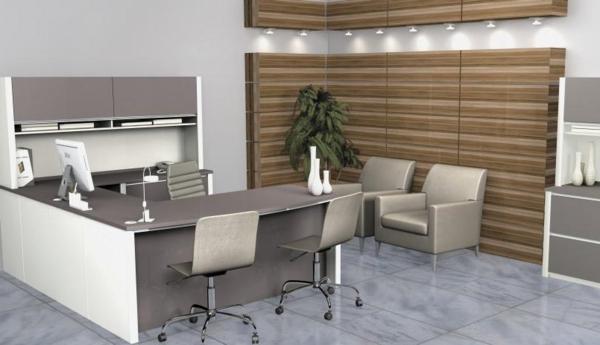büromöbel design ergonomisch kompakt grau