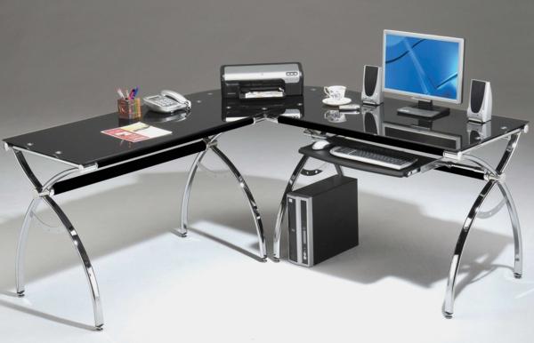 büromöbel design hochglanz modern