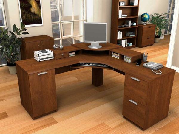 büromöbel design holz eckig