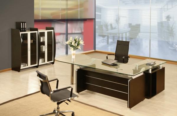 Moderne luxus büro  Büromöbel Design - Dimensionen und Standards bei modernen Bürotischen