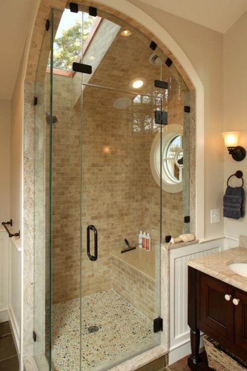badeinrichtung duschkabine mosaik fliesen