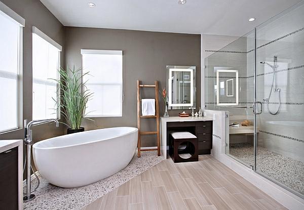 Freistehende Badewanne Neben Dusche Wohn Design