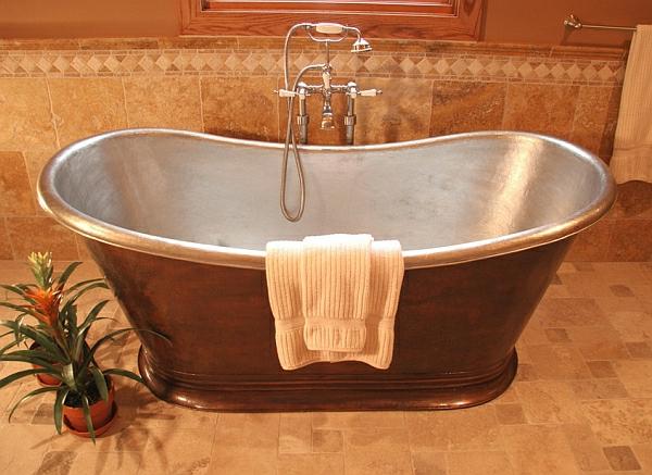 Heißes Bad Freistehende Badewannen Bieten Entspannung