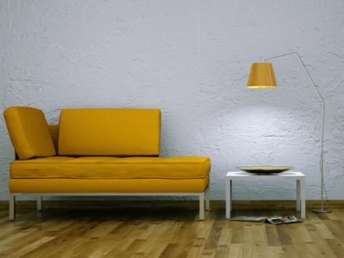 Beleuchtung Sofa Rendering orange