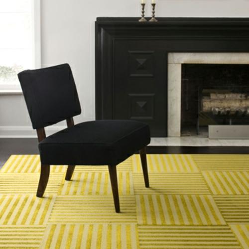 designteppiche gelb gestreift