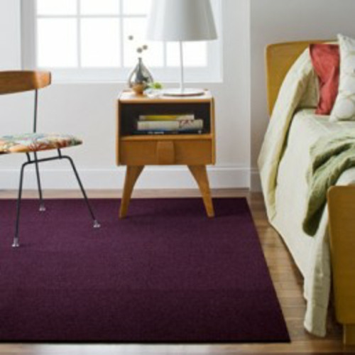 designteppiche hochflor dunkel lila
