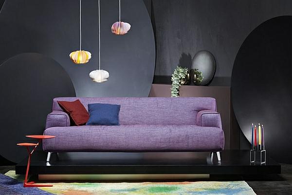 designer couch lavendel oscar