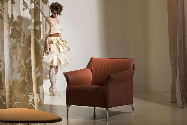 designer couch leder sessel