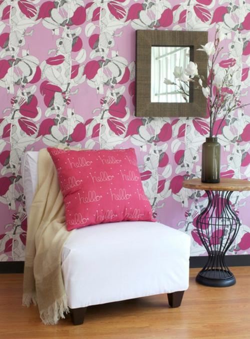 die richtigen tapeten muster rosa cool