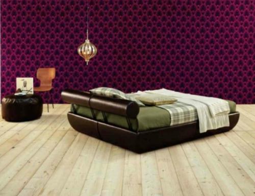 die richtigen tapeten muster schlafzimmer fußboden