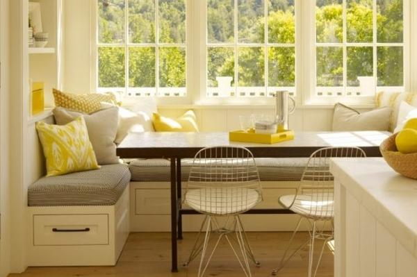 essecke einrichten metallene netzartige stühle