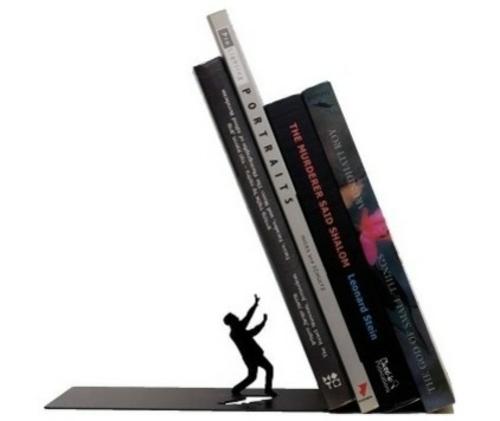 Bücherstützen abenteur bücher feinschmecker