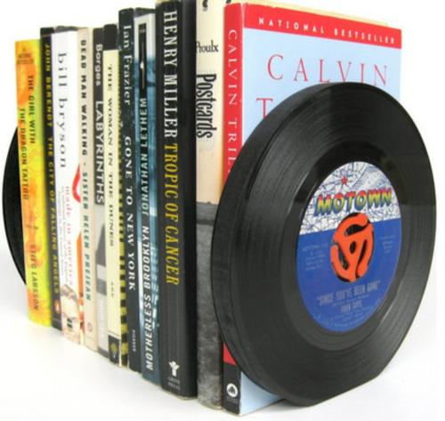 fantastische Bücherstützen schallplatten originell idee