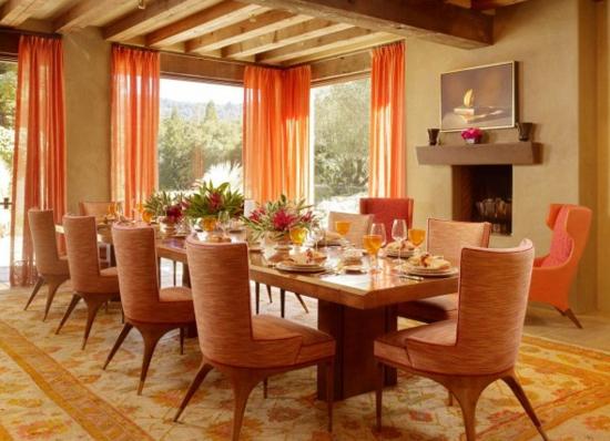 Farbe orange dekorieren sie ihr esszimmer in leckeren for Esszimmer orange