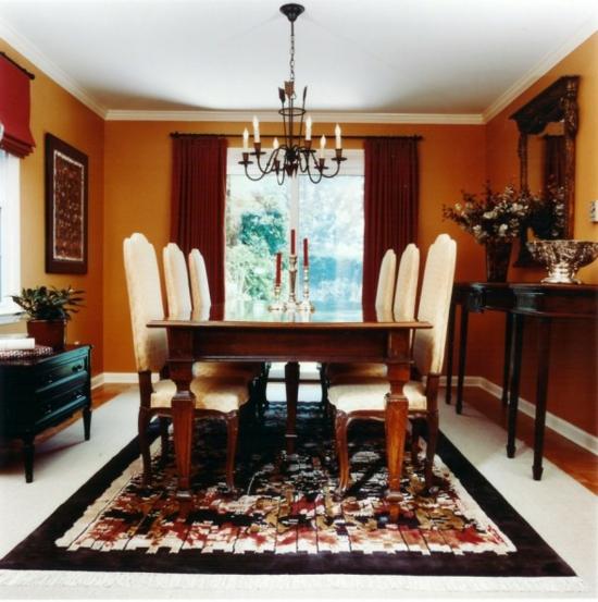 Farbe orange dekorieren sie ihr esszimmer in leckeren for Esszimmer kirschholz