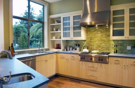 Kitchen Backsplashes Seaglass Color