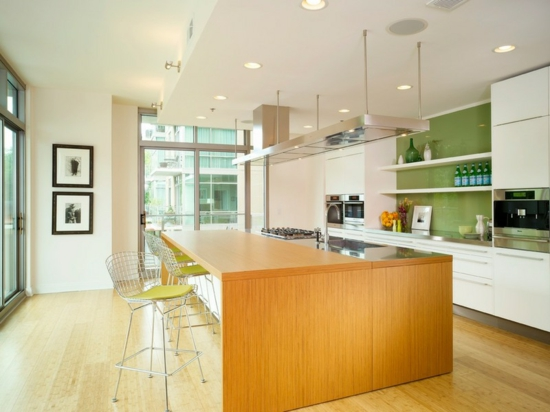Farben für Küchenwände - 15 tolle Rückwände in grünen ...