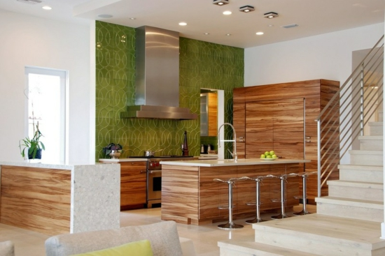 farben für küchenwände ideen grün fliesenspiegel