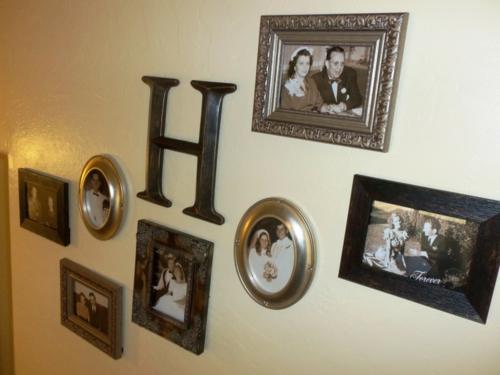 Fotowand mit Familienfotos gestalten wohnen familie retro