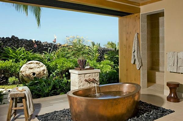 badezimmer aus stein design waschbecken badewanne mika