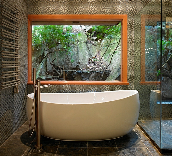 Freistehende Badewanne Raffinierten Look | Möbelideen, Badezimmer