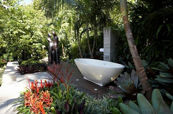 Hei es bad freistehende badewannen bieten entspannung - Badewanne im garten ...