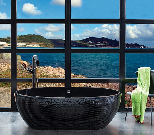 Heißes Bad - Freistehende Badewannen Bieten Entspannung Freistehende Badewanne Raffinierten Look