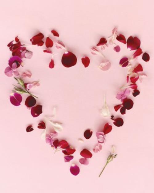 Frische DIY Ideen Zum Valentinstag Blüten Herz