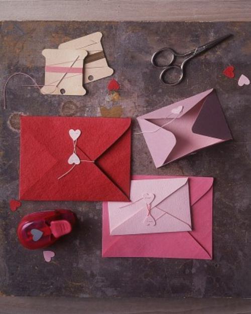 frische DIY Ideen zum Valentinstag briefumschlag
