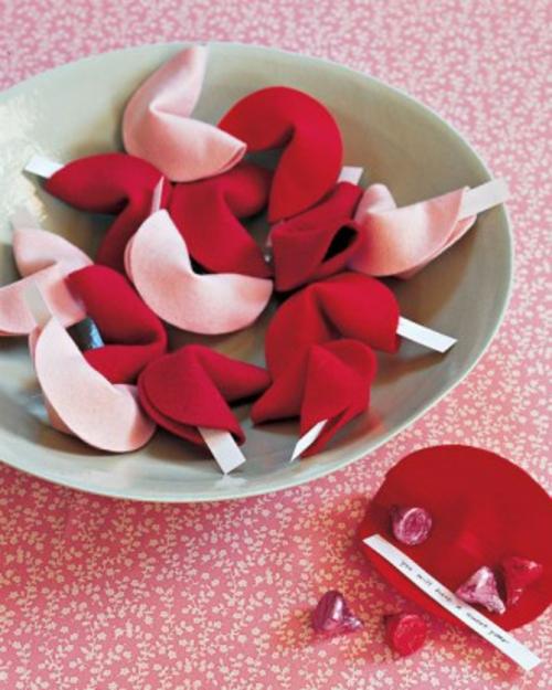 DIY Ideen zum Valentinstag filz schicksal cookies