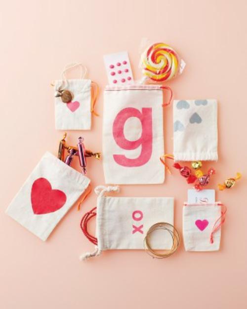 frische DIY Ideen zum Valentinstag geschenk beutel