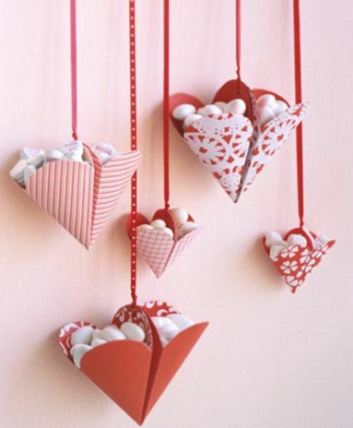 frische DIY Ideen zum Valentinstag herzen bonbons