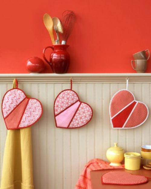 frische DIY Ideen zum Valentinstag küchen dekoration