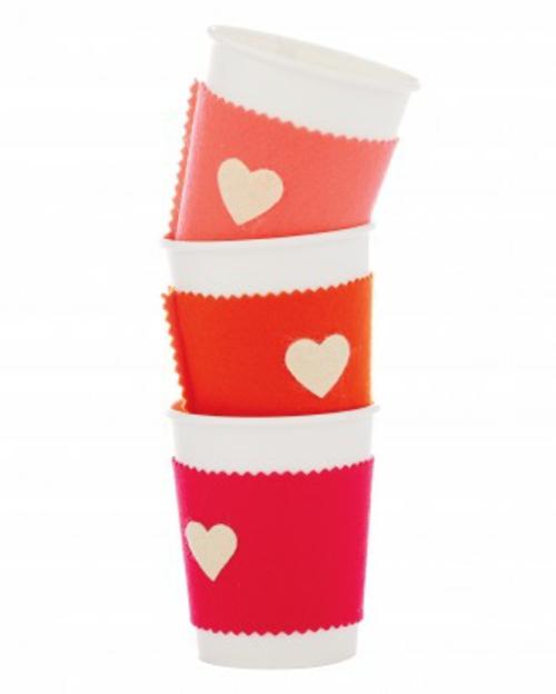 frische DIY Ideen zum Valentinstag kaffee becher tassen