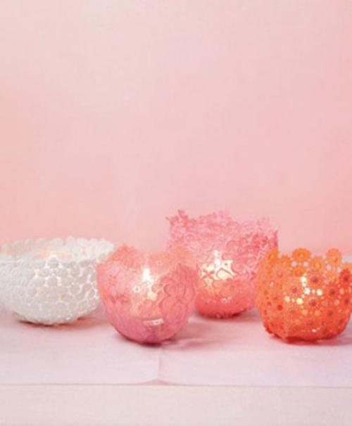 frische DIY Ideen zum Valentinstag kerzen halter