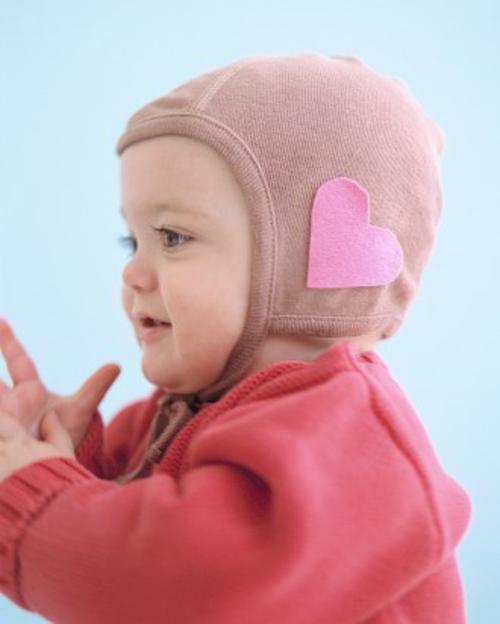 frische DIY Ideen zum Valentinstag kinder mütze