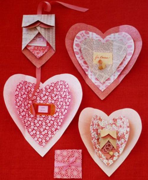 frische DIY Ideen zum Valentinstag papier herzen