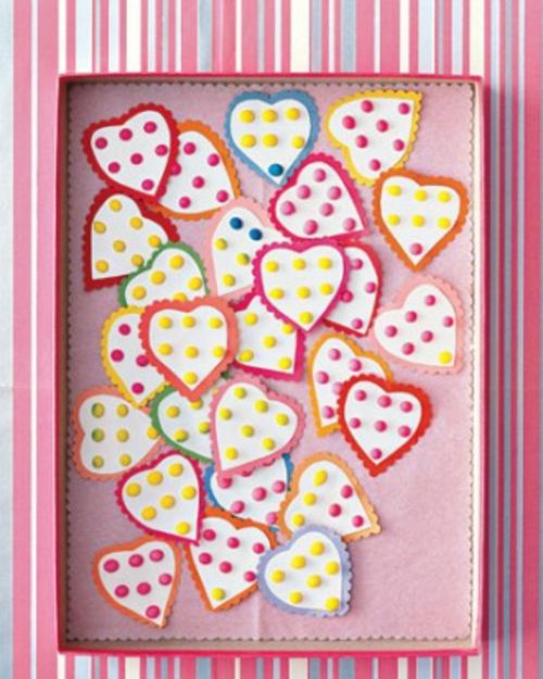 DIY Ideen zum Valentinstag süße herzen