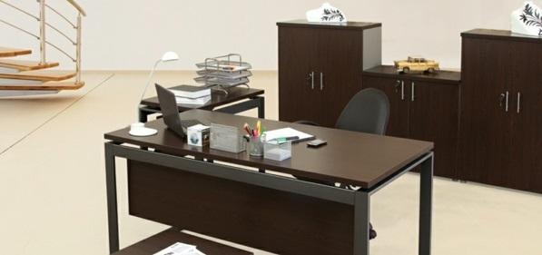 günstige Schreibtische fürs Büro ausstattung holz dunkel