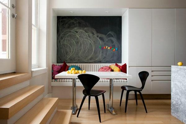 gemütliche essecke kreide tafel