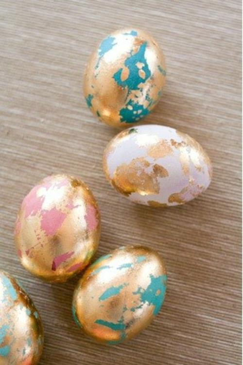 Goldene ostereier selber basteln for Blattgold basteln