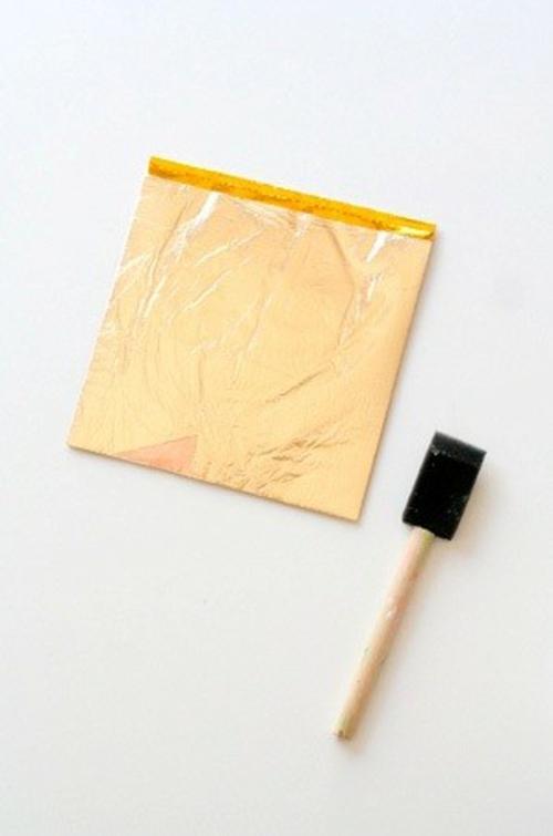 goldene ostereier selbst basteln bemalen pinsel