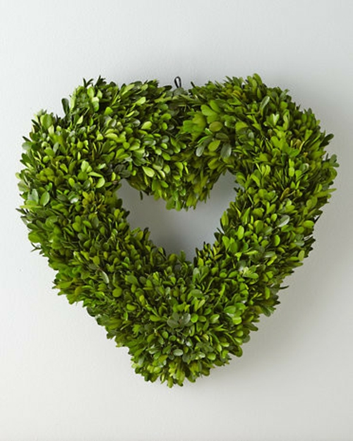 herz deko grün buchsbaum