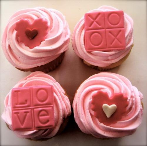 herz deko rosa cupcakes